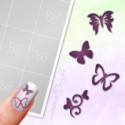 Klebeschablonen Set Schmetterlinge - SET018