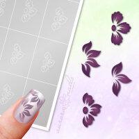 Klebeschablonen Set Blüten - SET028