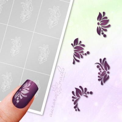 Klebeschablonen Set Floral - SET056
