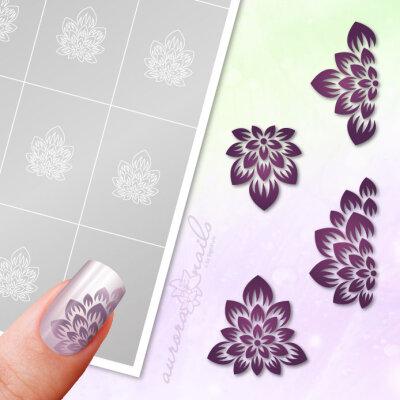 Klebeschablonen Set Florale Blüten - SET083