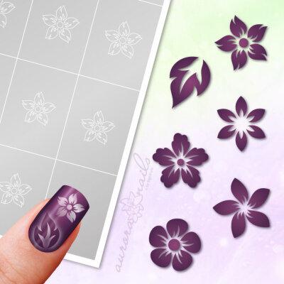 Klebeschablonen Set Blüten - SET005