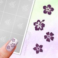 Klebeschablonen Set Blüten - SET024