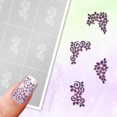 Klebeschablonen Set Blüten - SET067