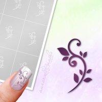 Klebeschablonen Florale Ranke - F013