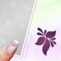 Klebeschablonen Florale Blüte - F245