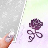 Klebeschablonen Florale Rose - F287