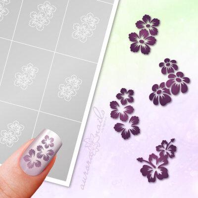 Klebeschablonen Set Blüten - SET026