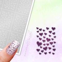 Klebeschablonen Herzen - MU015