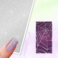 Klebeschablonen Spinnennetz-Muster - MU081