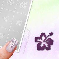 Klebeschablonen Hawaii Blüte - B039