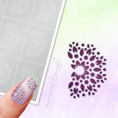 Klebeschablonen Florales Muster - MU084