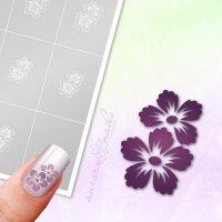 Klebeschablonen Hibiskus Blüten - B094