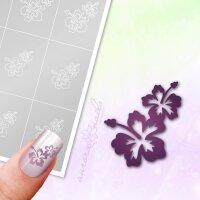 Klebeschablonen Hawaii Blüten - B096