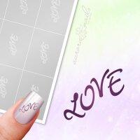 Klebeschablonen Schriftzug Love - TX089