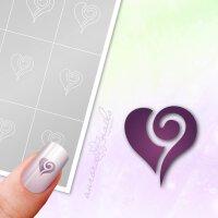 Klebeschablonen Herz - L062