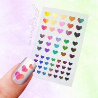 Nailart-Sticker Motiv: Herz
