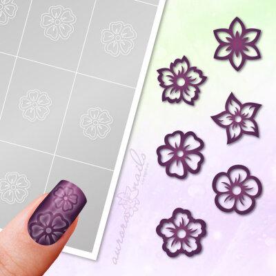 Klebeschablonen Set Blüten - SET006