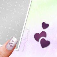 Klebeschablonen Herzen - L027