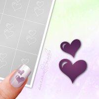 Klebeschablonen Herzen - L034